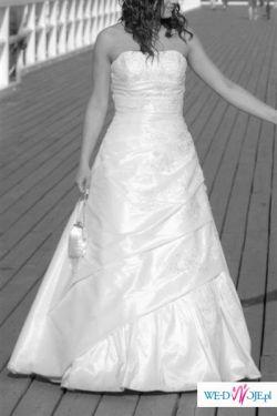 Suknia Ślubna - Agnes 1904 - suknia + welon + torebeczka