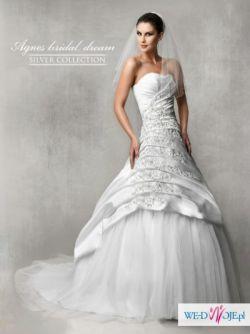 Suknia ślubna AGNES SILVER COLLECTION śnieżnobiała 36-38