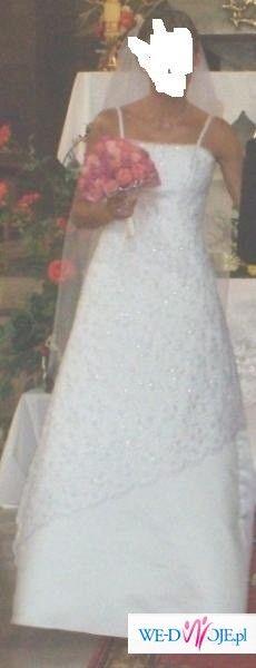 SUKNIA ŚLUBNA agnes.... z przepiękną koronka!!!!!!