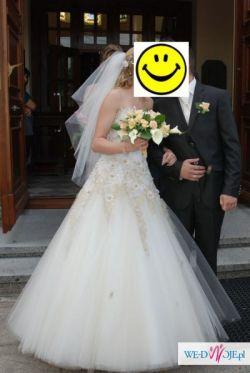 Suknia Ślubna AGORA 11-10 ECRU - SWAROVSKI