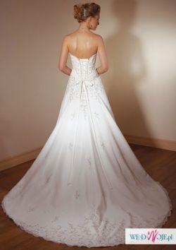 Suknia ślubna amerykańska jednoczęściowa + szal +dekoracja ślubna na samochód!!!