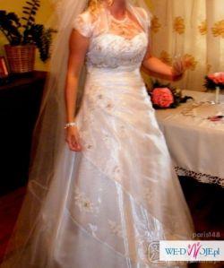 SUKNIA ślubna Anabell Virage 2010 ivory svarowsky 38 40