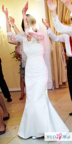 Suknia ślubna Angel r. 36 tren