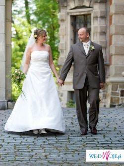 Suknia ślubna Annabel + welon, halka i pokrowiec