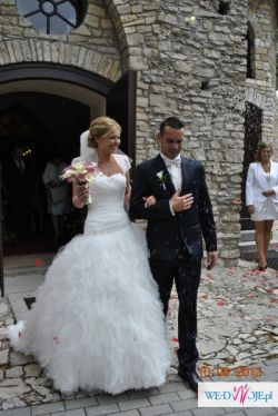 Suknia ślubna ANNAIS ANETTE r. 36, ivory z trenem