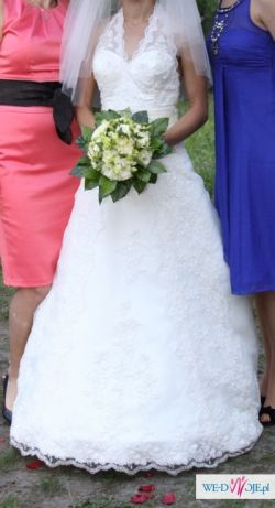 Suknia ślubna Annais Bridal Sunny rozm. 34 dla drobnej i niewyskokiej dziewczyny