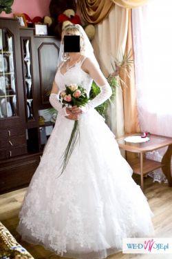Suknia ślubna Biała Suknie ślubne Ogłoszenie Komis Baza