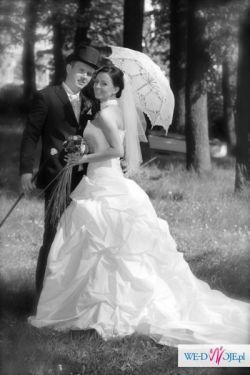 Suknia ślubna biała 36/38 swarovski
