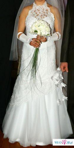 Suknia Slubna biala.