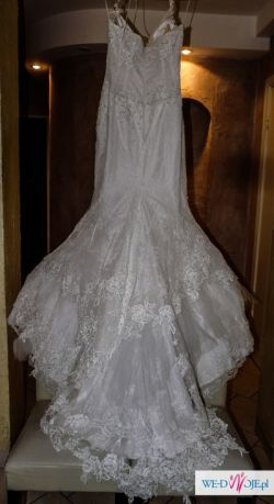 Suknia Ślubna Biała Agora Rybka Syrenka