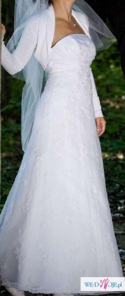 SUKNIA Ślubna BIAŁA Crystal Ślub 36 38 suknie Wesele Okazja jak nowa