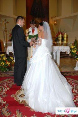 Suknia ślubna biała + dodatki