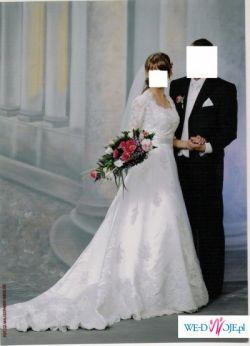 suknia ślubna biała Herms model Tessla r.36