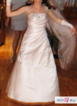 Suknia ślubna,biała,jednoczęściowa