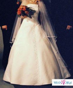 Suknia ślubna - biała, jednoczęściowa