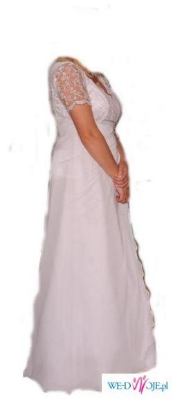 Suknia ślubna biała jednoczęściowa