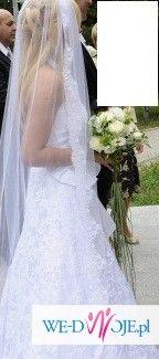 suknia ślubna biała koronkowa Ana Lisa
