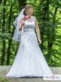 Suknia ślubna biała koronkowa GALA