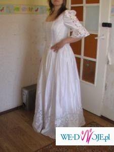 Suknia ŚLUBNA Biała, Możliwość Ciążowej.