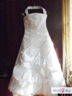 Suknia Ślubna Biała na wzrost 150 cm + Welon