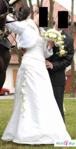 Suknia ślubna - biała, prawie nowa!
