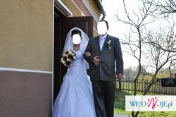 Suknia ślubna, biała, r.36
