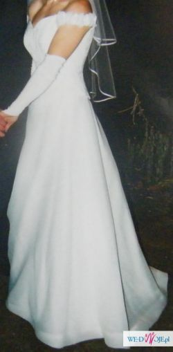 Suknia ślubna, biała, r.38
