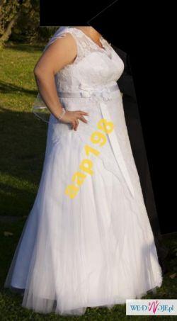 Suknia ślubna biała r.48 +welon i bolerko polecam!