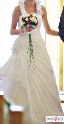 suknia ślubna - biała rozm. 38, wzrost 170