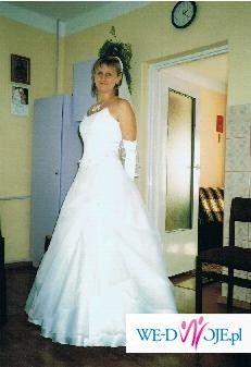 suknia ślubna biała-SPRZEDAM