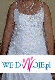 Suknia ślubna biała z tafty +koronka za jedyne 600zł, rozm 40-42