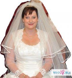 Suknia ślubna + bolerko + dwa welony (krótki i długi)