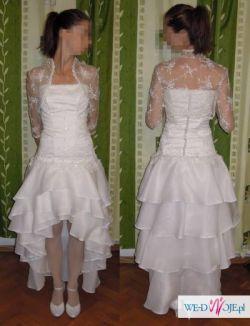Suknia ślubna + bolerko rozm. 38 OKAZJA!