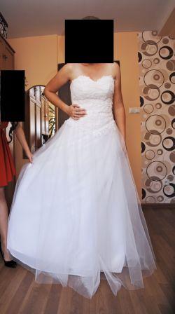 Suknia ślubna +bolerko+welon