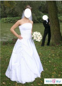 Suknia Ślubna - bolerko, welon