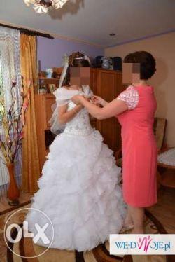 Suknia ślubna Bruuk - princessa, falbany