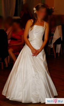 Suknia Ślubna + buty - GRATIS poduszeczka na obrączki