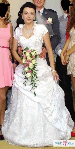 Suknia Ślubna + buty i biżuteria gratis