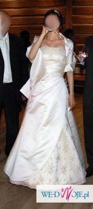 Suknia ślubna cappuccino