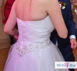 Suknia Ślubna CARMEN z najnowszej kolekcji SPOSA + GRATIS 2  welony
