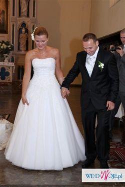 Suknia Ślubna cekiny kamienie Swarovskiego