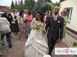 suknia ślubna ciążowa TANIO plus gratis dekoracja na auto
