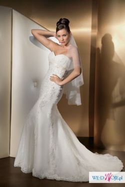Suknia ślubna Cosmobella + 2 bolerka + buty + kamizelka
