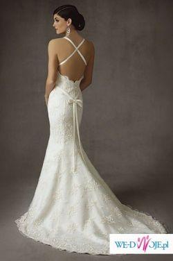 Suknia ślubna Cosmobella 7318 rozm.36 GRATIS:bolerko, torebka i poprawki