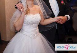 Suknia ślubna CRISTAL rozm.38 + gratisy