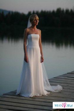 SUKNIA ślubna CYMBELINE rozm. 34 / 36 biała/ecru
