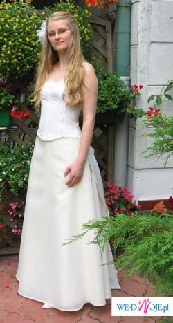 Suknia Ślubna Cymberline rozmiar 36-38, kolor ecru