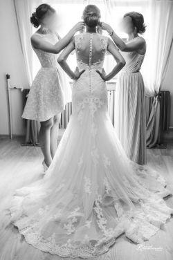 Suknia ślubna Daimi White One w kolorze śmietankowym