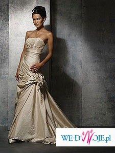 suknia ślubna Demetrios 2007 mod. 3049 w białym kolorze MADE IN FRANCJA