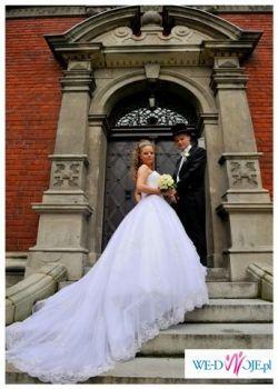 Suknia ślubna Demetrios 933 ! Piękna i efektowna